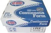 "Continuous Form 9 1/2"" x 11"" (1 Ply)"