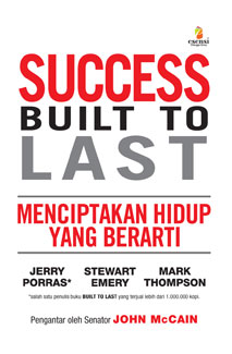 book review success built to last Built to last: successful habits of visionary companies is a book written by jim collins and  not a causal link between their findings and the success of.