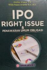 IPO, Right Issue dan Penawaran Umum Obligasi