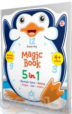 Magic Book 5 in 1 (Bermain Garis, Bentuk, Angka, Jam, Waktu)