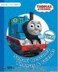 Buku Mewarnai Thomas And Friends Sehari Bersama Thomas And Friends