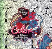 Adult Coloring Book: Color of Flower